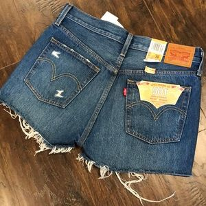 Levi's NWT Original Fit 501 High Rise Denim Shorts